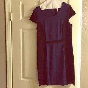 Navy and black dress